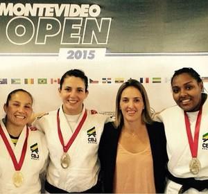 Seleção medalhistas Aberto do Uruguai judô dia 2 (Foto: Reprodução/Twitter)