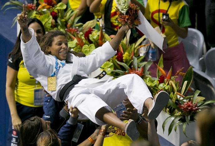 rafaela silva torcida campeã mundial rio 2013 judo (Foto: Leandra Benjamin/MPIX )