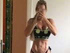 Denise Rocha mostra barriga sarada e com veias: 'Secando. Emagreci 6 kg'