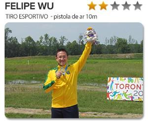 PESO DO OURO - Felipe WU tiro esportivo (Foto: Editoria de Arte)