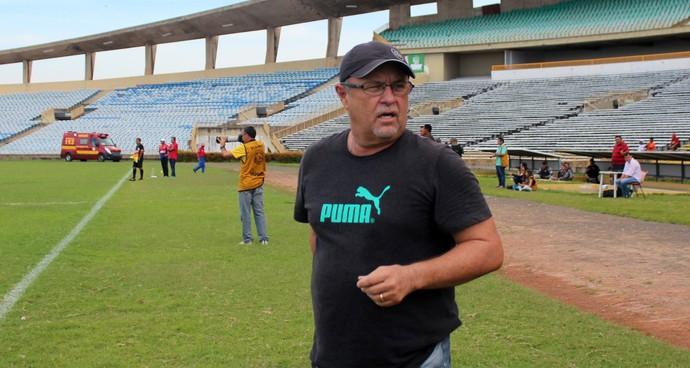 Pedro Manta, treinador do Parnahyba (Foto: Abdias Bideh/GloboEsporte.com)