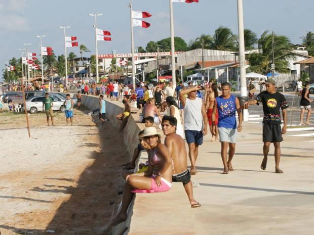 Orla da Praia de Marudá, no Pará (Foto: Carlos Sodré/Divulgação)
