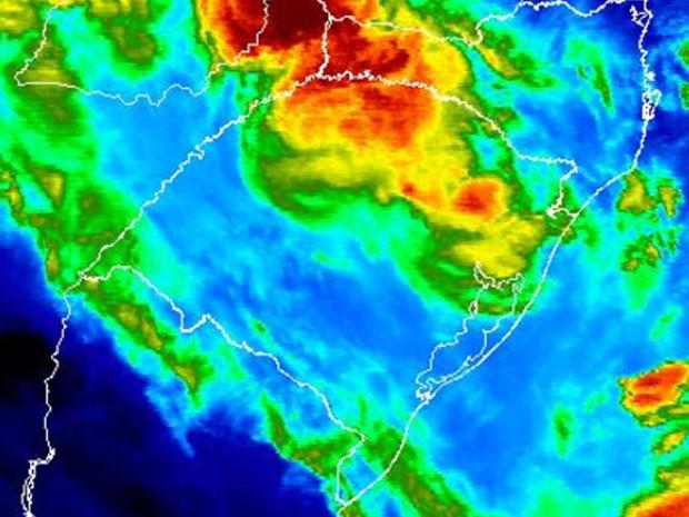 Nova frente fria traz possibilidade de temporais no Rio Grande do Sul (Foto: Reprodução/Inmet)