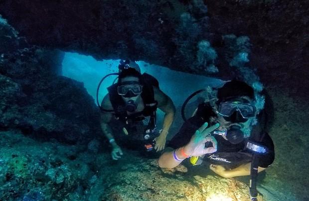 Caio Castro em mergulho nas Ilhas Marietas, no México (Foto: Reprodução/Instagram)