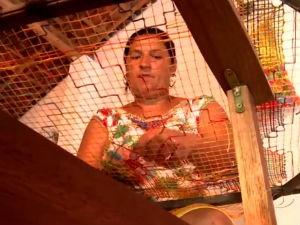 Rendeiras de Marechal Deodoro mantém tradição do filé   (Foto: Reprodução/TV Gazeta)