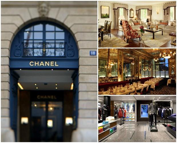 Em Paris, Eduardo Cunha fez gastos no cartão de crédito na loja Chanel, no Plaza Athénée e nos restaurantes Le Grand Vefour e Guy Savoy (Foto: Reprodução)