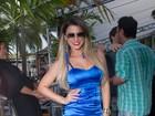 Solteira, Babi Rossi escolhe look sexy para curtir noite com ex-BBBS