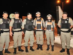 Comandante Geral da PMPB, Euller Chaves, e comandantes de batalhões estiveram no lançamento da Operação Réveillon (Foto: Wagner Varela/ 1º BPM )