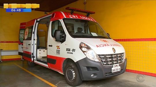 Ambulância do Samu de Criciúma está há meses sucateada