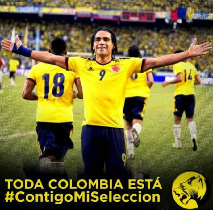 Falcao García manda apoio à seleção colombiana (Foto: Reprodução)