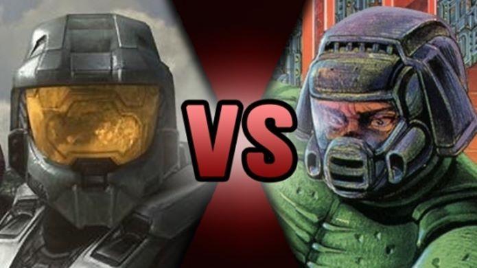Master Chief e Doom Guy (Foto: Reprodução  / ScrewAttack)