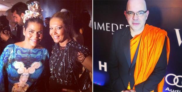 Os looks de Daniela Falcão, diretora de redação da Vogue Brasil, Donata Meirelles, nossa diretora de estilo, e Giovanni Frasson, diretor de moda (Foto: Reprodução/Instagram)