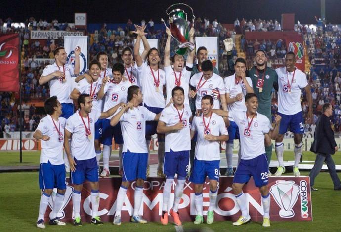 Cruz Azul, comemoração, Copa México (Foto: Site Oficial do Cruz Azul)