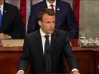 Depois dos afagos, Macron critica Trump por guerras comerciais