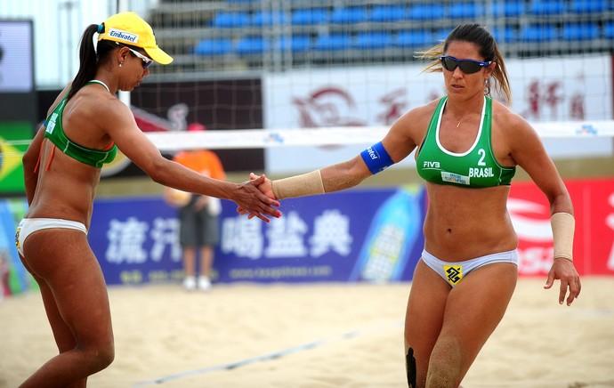 Juliana e Maria Elisa, Circuito Mundial de Vôlei de Praia, Xiemen (Foto: Divulgação / FIVB)