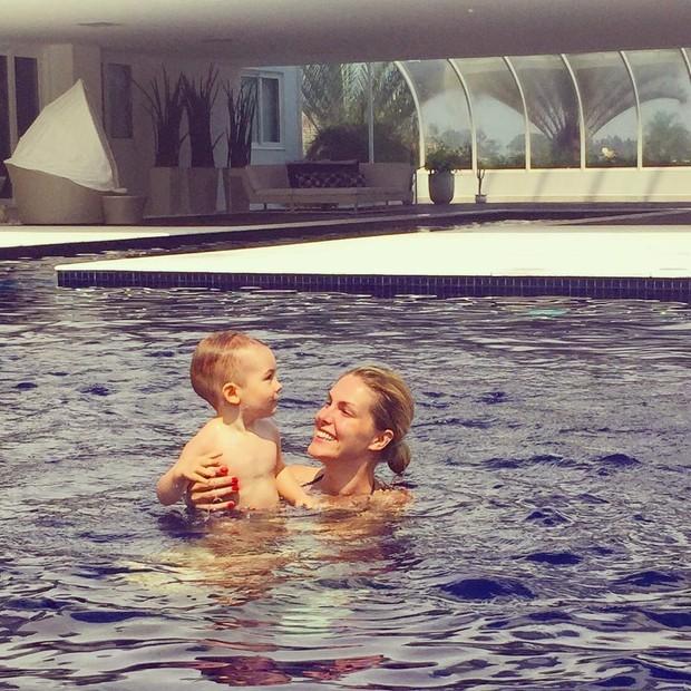 Ana Hickmann e o filho, Alexandre (Foto: Reprodução/ Instagram)