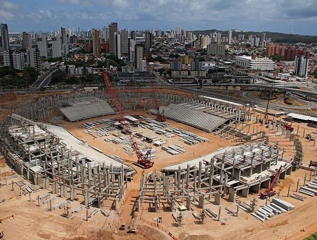 Arena das Dunas com 42% das obras concluídas (Foto: Canindé Soares/Cedida)