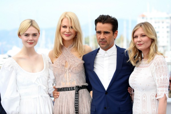 Elle Fanning, Nicole Kidman, Colin Farrell e Kirsten Dunst (Foto: Getty Images)
