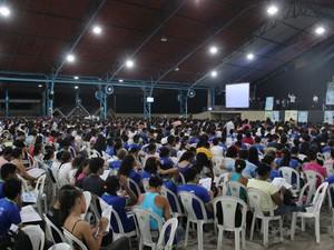 Estudantes de escolas públicas e particulares participaram de revisã (Foto: Catarina Costa/G1)