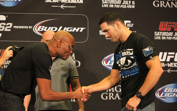 Coletiva UFC 162 Anderson Silva Chris Weidman (Foto: Evelyn Rodrigues)