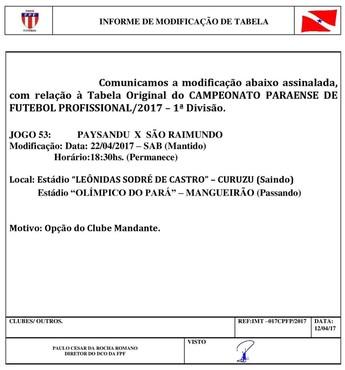 Paysandu São Raimundo Mangueirão (Foto: Reprodução)