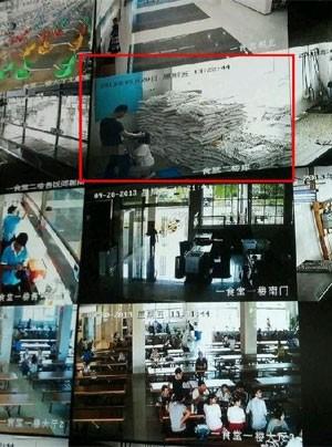 Funcionários do restaurante universitário foram flagrados fazendo sexo oral (Foto: Reprodução/Weibo/nick2119)