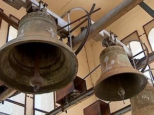 Sinos catedral Uberlândia (Foto: Reprodução/TV Integração)