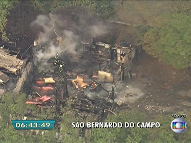 Incêndio em São Bernardo do Campo (Foto: Reprodução/TV Globo)