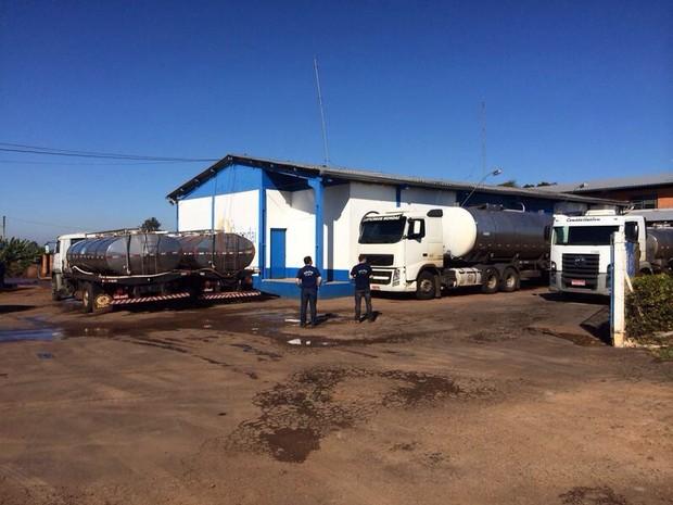 Em operação contra nova fraude no leite, MP cumpre mandado no RS (Foto: Divulgação/MP)
