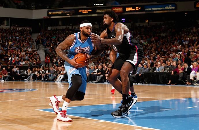 DeMarcus Cousins e DeAnder Jordan Clippers x Kings NBA (Foto: Getty)