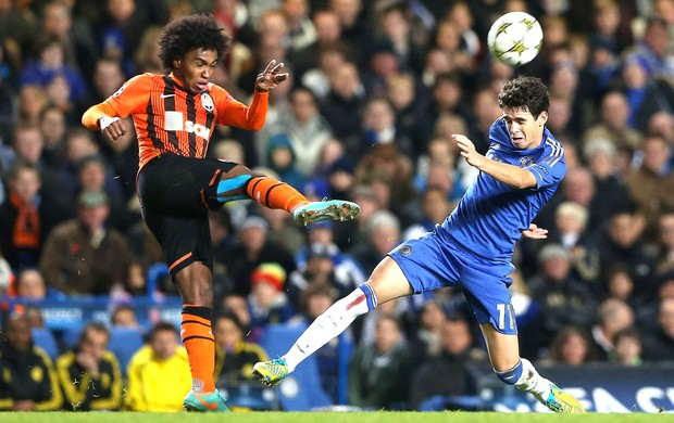 Willian e Oscar, Chelsea e Shakhtar (Foto: Getty Images)