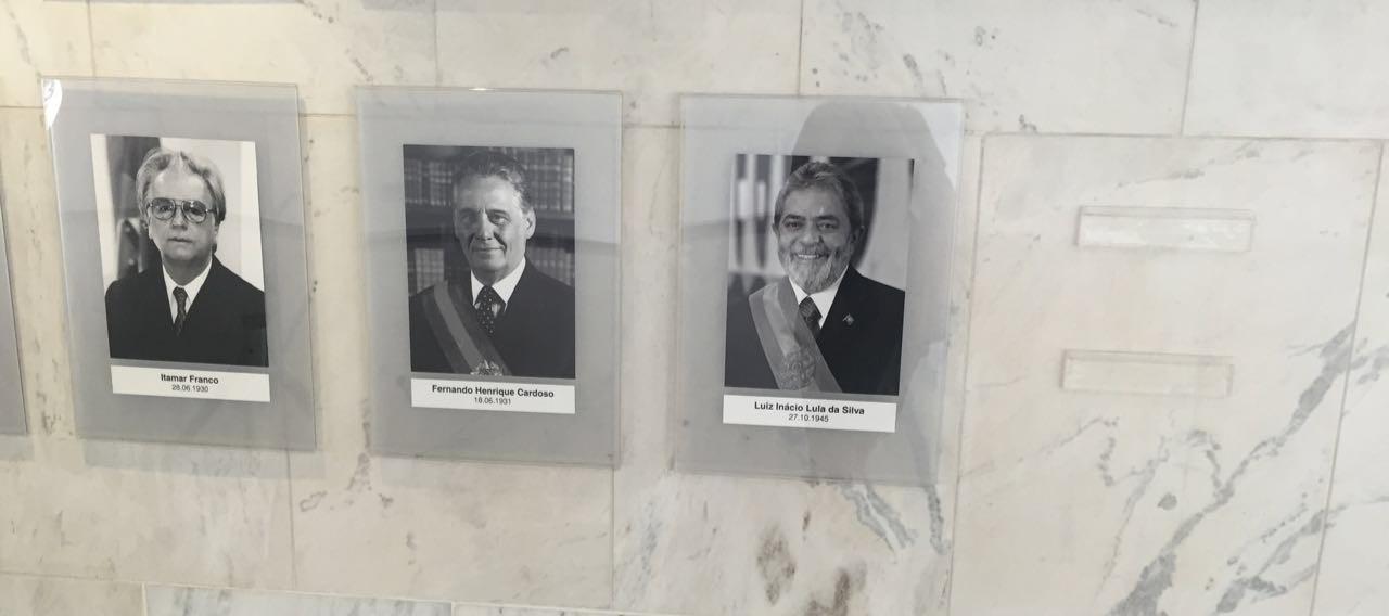 Galeria de ex-presidentes da República (Foto: Bárbara Lobato)