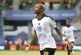 André Ayew marca de pênalti, e Gana estreia com vitória na Copa Africana
