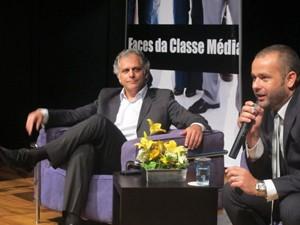 Presidentes Ricardo Loureiro, da serasa Experian (esquerda) e Renato Meirelles, do Data Popular (Foto: Darlan Alvarenga/G1)