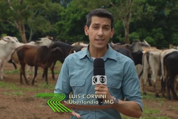 Luis Corvini diretamente de Uberlândia para o Globo Rural  (Foto: Divulgação | TV Integração )