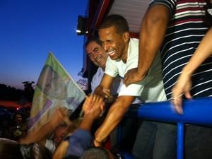 Juninho é eleito em Cariacica. (Foto: Rodrigo Rezende/ G1 ES)