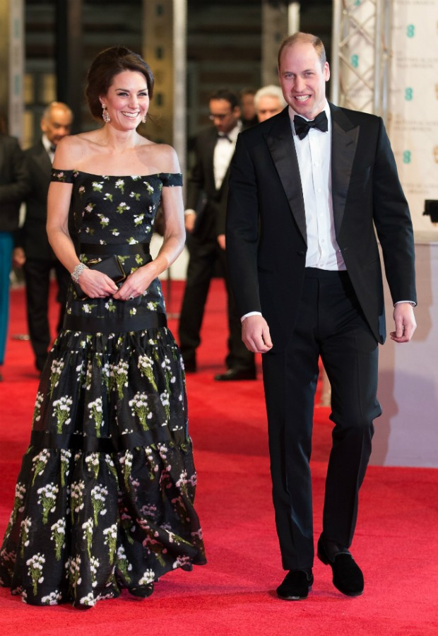 Kate Middleton e Príncipe William no BAFTA 2017 (Foto: Getty)