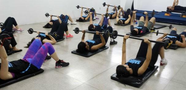 Atividade requer força e concentração (Foto: TV Clube)