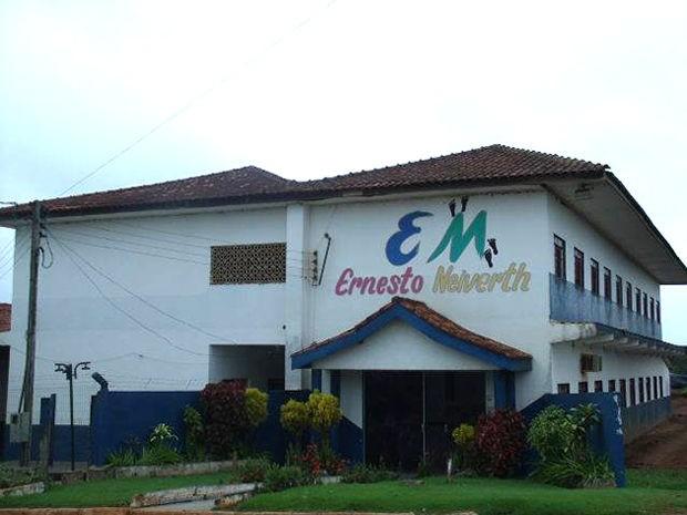 Aulas foram suspensas em escola após o crime nesta quinta (11). (Foto: Assessoria/ Escola Municipal Ernesto Neiverth)