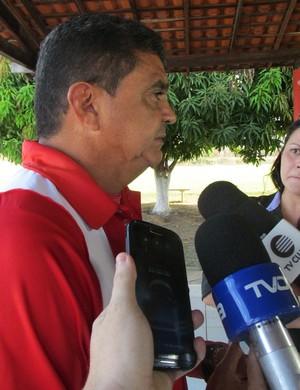 Flávio Araújo, técnico do River-PI (Foto: Josiel Martins)