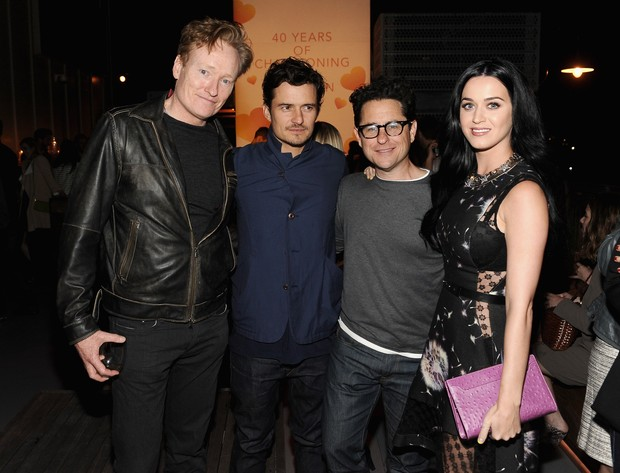 Conan O'Brien, Orlando Bloom, J.J. Abrams e Katy Perry (Foto: Getty Images)