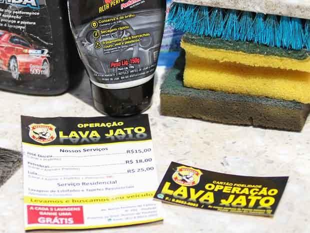 Dono do negócio investiu até mesmo na criação de cartão fidelidade para o lava a jato (Foto: Marlon Costa/Pernambuco Press)