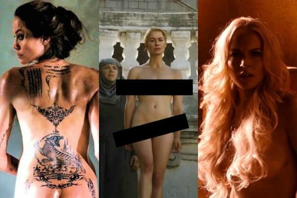Angelina Jolie, Lena Headey e Lindsay Lohan  (Foto: Reprodução)