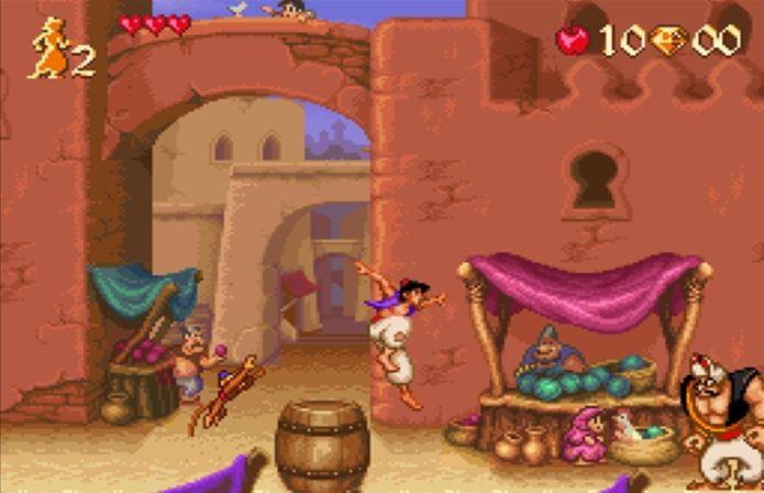 Jogo do Alladin impressionava tanto no Mega Drive como no Super Nintendo (Foto: Reprodução / Complex)