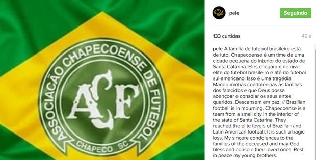 Pelé (Foto: Reprodução / Instagram)