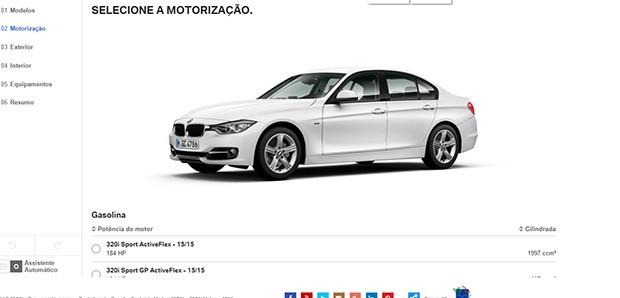 Configurador do site da BMW no Brasil (Foto: Reprodução)