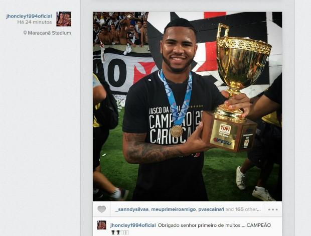 Instagram Jhon Cley, Vasco