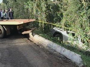 Acidente Panambi Rio Grande do Sul rodovia estrada (Foto: Reprodução/RBS TV)