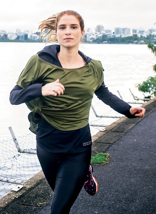 Julia sonha em completar  sem parar os quase  8 km da pista da Lagoa  Rodrigo de Freitas,  no Rio: determinação  (Foto:  )