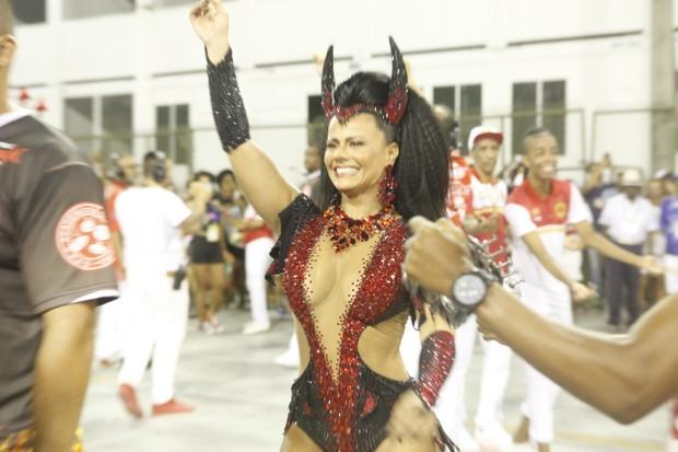 Viviane Araújo samba emensaio técnico da Salgueiro (Foto: Anderson Barros/EGO)